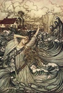 Arthur Rackham's 1909 depiction of Undine or Ondine